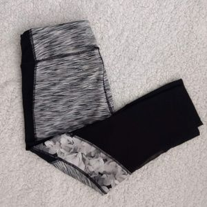 Gray and Black Cropped Leggings